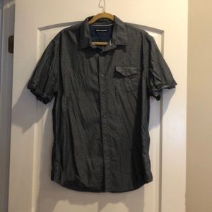 DKNY Jeans Men's Short Sleeve Button Down Shirt